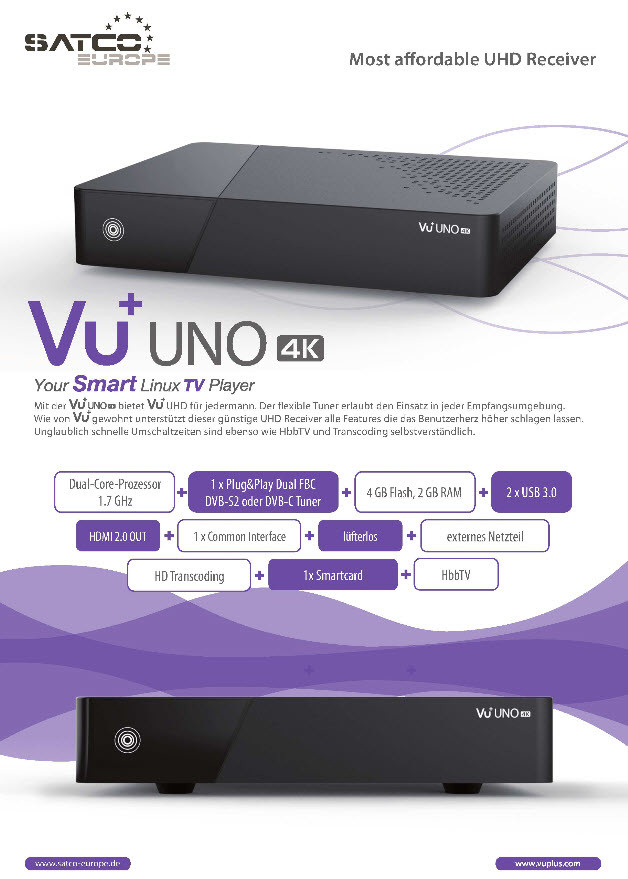 Vu Announces 2 New 4k Receivers Vu Uno 4k Ultimo 4k on tv optical output
