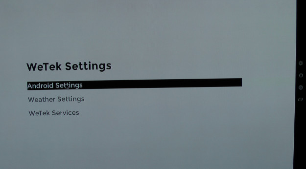 WeTek Play Android settings