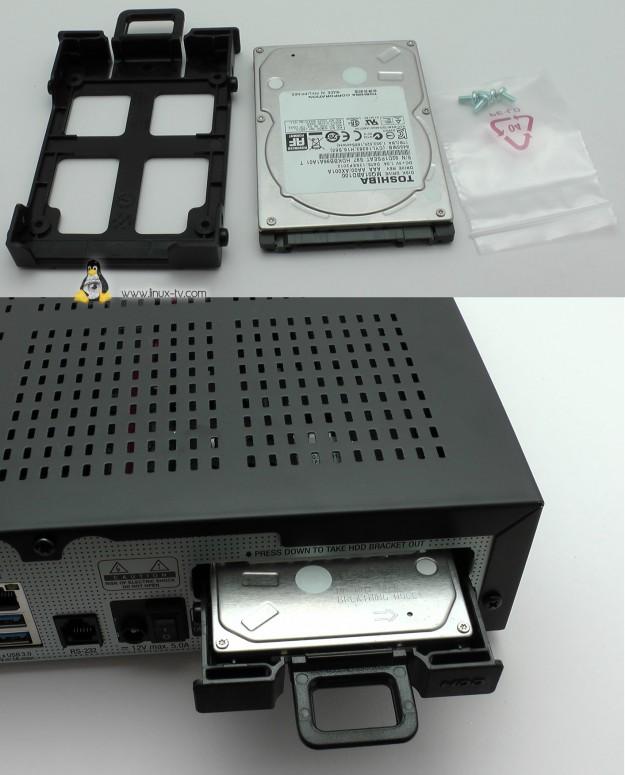 VU+ Solo4K hdd install