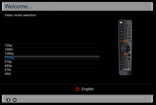 Vu+ Solo4K install video mode