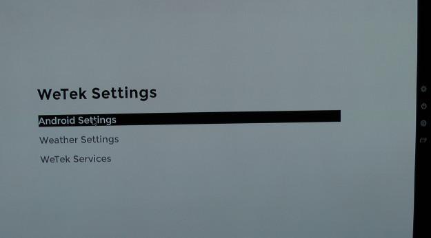 WeTek Play Android settings