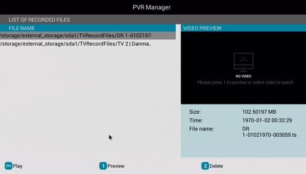 WeTek Play PVR Manager