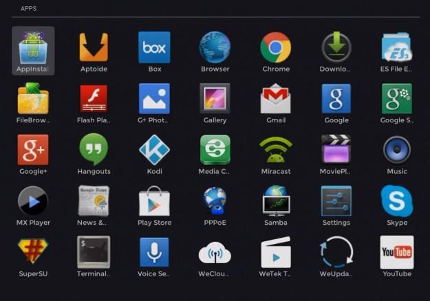 WeTek Play apps