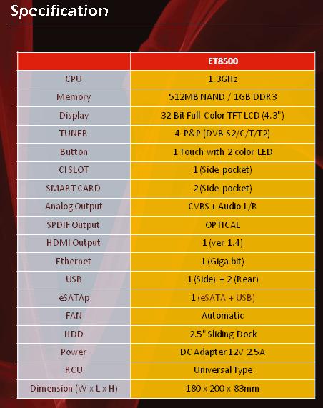 Xtrend_ET8500_specs